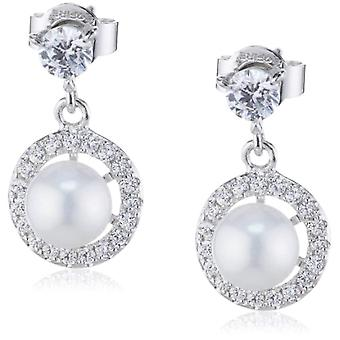 Diamonfire 62-1456-1-111 - Pendientes colgantes para mujer con zirconia cúbica - plata de ley 925
