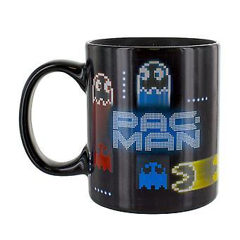 Pac Man Neon Heat Change Mug Ceramic Multi-Colour 8 x 12 x 10 cm