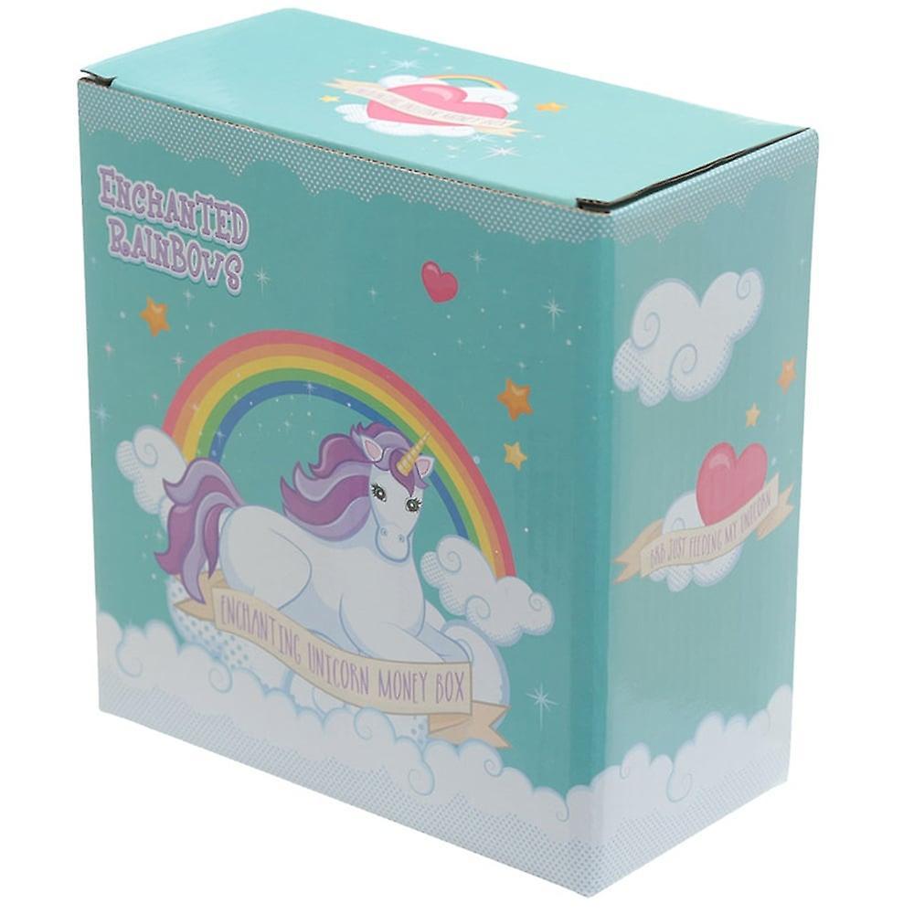 Puckator Enchanted Rainbow Unicorn Money Box