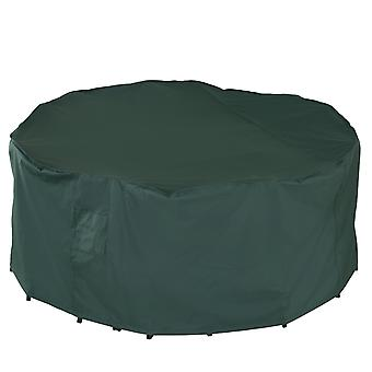 Outsunny Garden Large Patio Set Round Cover Furniture Cover Waterproof -φ193 cm