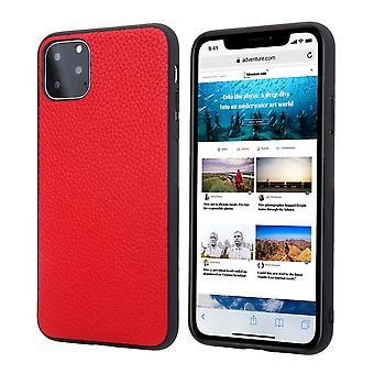 Para iPhone 11 Pro Max Case Genuíno Couro Durável Capa protetora slim vermelho