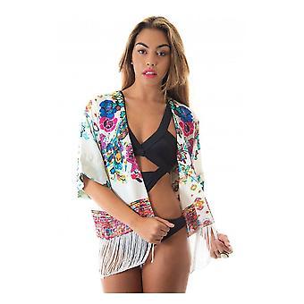 Liebe mich Floral Fransen Kimono