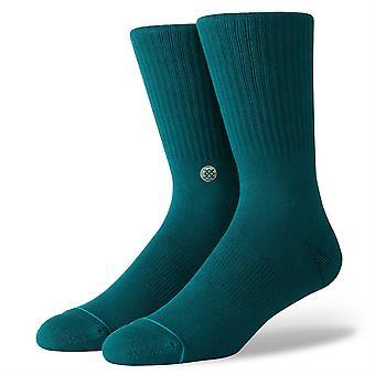 موقف غير مألوف المواد الصلبة Mens الجوارب ~ أيقونة الأخضر (حجم L)