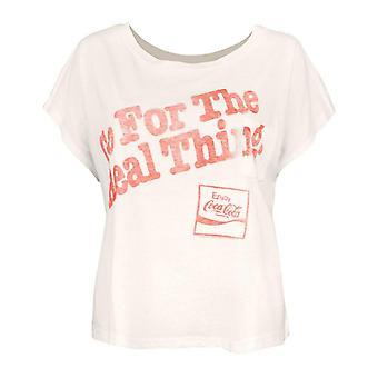 Skräpmat Coca-Cola Real Thing Kvinnor & s Överdimensionerade T-shirt