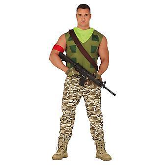 Mens Mercenary Gamer Fancy Dress Kostuum
