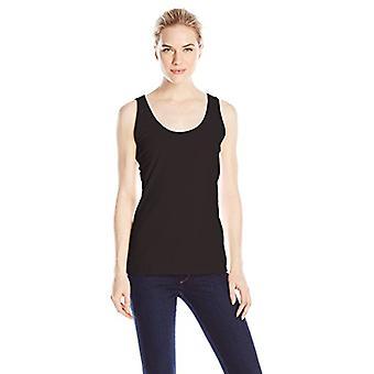 Hanes Women's Scoop Neck Tank Top, Black, Large, Black, Size Large