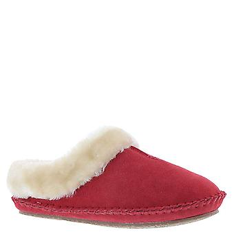 Minnetonka Womens Cailee Leather Closed Toe Slip On Slippers, Red, Size 5.0