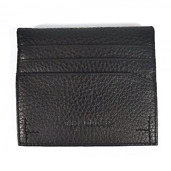 تيد بيكر بانكس أسود جلد ملون داخلي ثنائي أضعاف محفظة حامل البطاقة