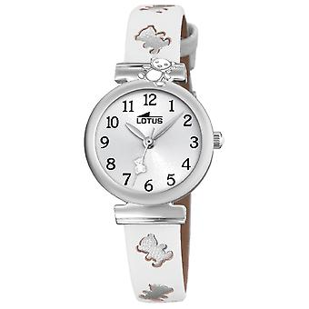 Lotus watches Quartz Analog Child Watch with Cowhide Bracelet 18628/1