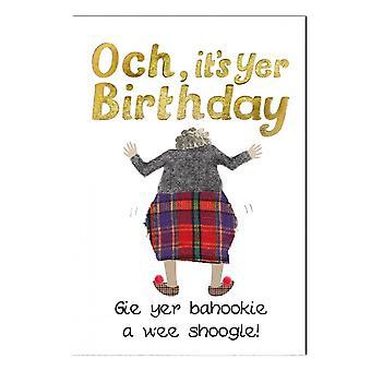 Embroidered Originals Birthday Shoogle Yer Bahookie Card