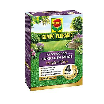 COMPO Floranid® lawn fertilizer against weeds + moss complete care, 4.5 kg