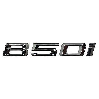 Silver Chrome BMW 850i Car Model Rear Boot Number Letter Sticker Decal Badge Emblem For 8 Series G14 G15 G16