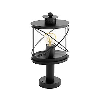 Eglo Hilburn - 1 Light Outdoor Pedestal Black IP44 - EG94864