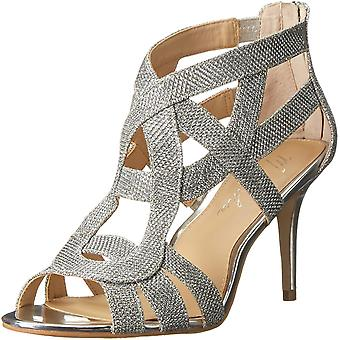 Marc Fisher Womens nala3 Fabric Peep Toe Casual Ankle Strap Sandals
