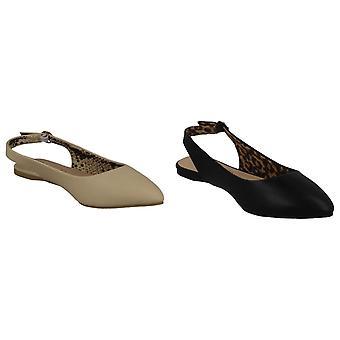 Spot på dame/damer flad slingback spidse sko