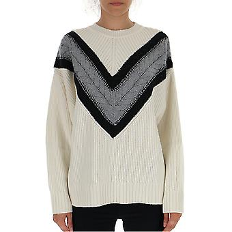 See By Chloé Chs19amp2959020g Women's White Wool Sweater