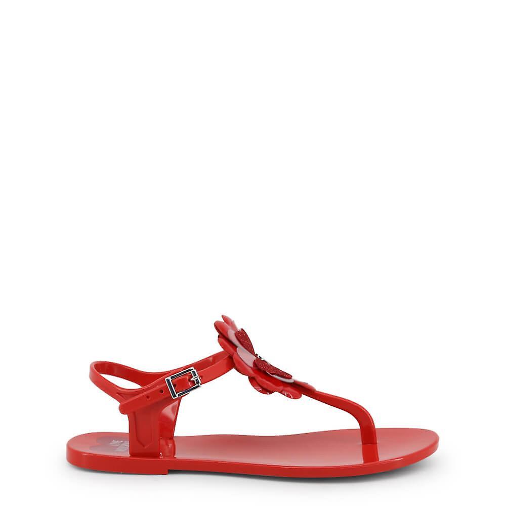 Love Moschino Original Women Spring/Summer Flip Flops - Red Color 33927 lnYIo