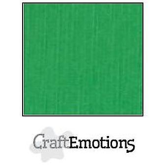 CraftEmotions linen cardboard 100 Sh grass green Bulk LHC-27 A4 250gr