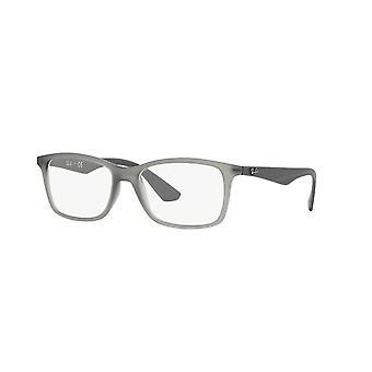 Ray-Ban RB7047 5482 Matte Transparent Grey Glasses