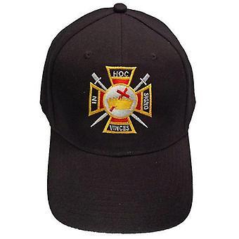 Knights templar masonic baseball cap