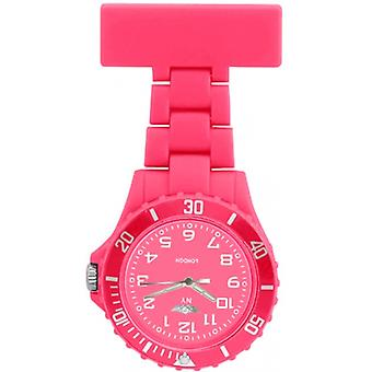 Prince London Rubberised Pink Rotating Bezel Unisex Nurses Fob Watch PI-2046