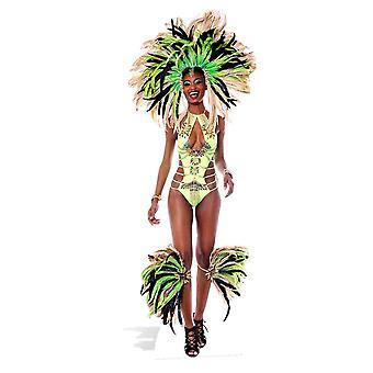 Mardi Gras Brazilian Carnival Festival Babe Lifesize Cardboard Cutout / Standee / Stand Up