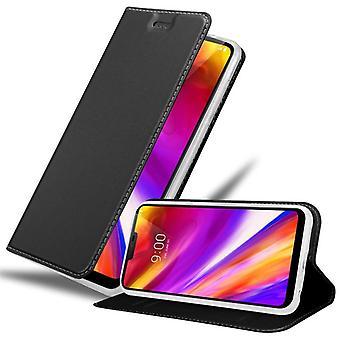 Estojo cadorabo para tampa da caixa LG G7 ThinQ - caixa de celular com fecho magnético, função de suporte e compartimento do cartão - Caso de proteção caso Caixa de proteção Livro Dobrável Estilo