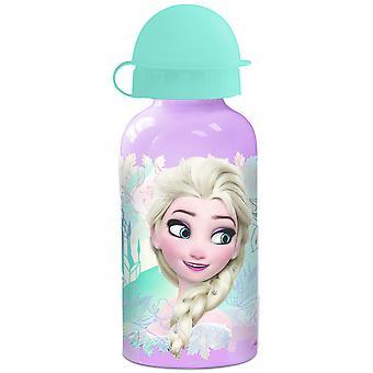FROZEN Kinder Trinkflasche aus Aluminium lila türkis 400ml