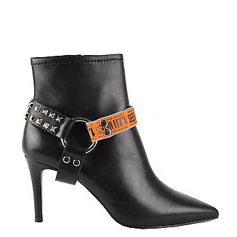 Ash BRITNEY Ankle Harness Boots Black Leather