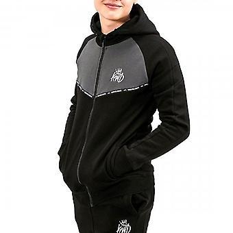Kings Will Dream Junior Jarva Black/Grey Zip Up Hoody Sweatshirt J547