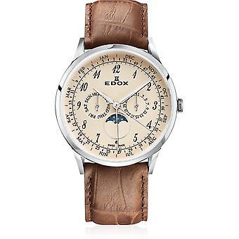 Edox - Armbanduhr - Herren - Les Vauberts - Annual Calendar - 40101 3C BEBN
