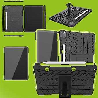 For Apple iPad Pro 11.0 2020 / 2021 Hybrid Utendørs Beskyttende Etui Grønn Tablet Bag Cover Tilfeller