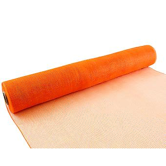 Orange 53cm x 9.1m Deco Mesh Roll for Wreath Making, Floristry & Crafts