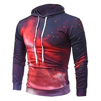 Allthemen Men's Hoodies Flame Pattern Hooded Sweatshirt