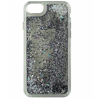 Milk & Honey Silver Snow Globe Waterfall Liquid Glitter Case for iPhone 6/6s/7