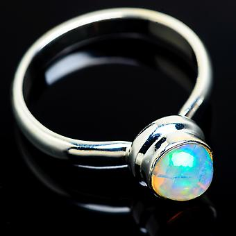 Natural Ethiopian Opal Ring Size 10 (925 Sterling Silver)  - Handmade Boho Vintage Jewelry RING7971