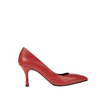 Andrea Pinto Ezgl438003 Kvinnor's röda läderpumpar