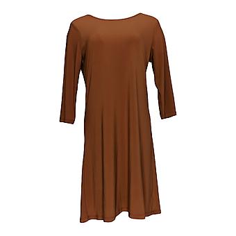 Attitudes by Renee Dress A-Line Style w/ Top Brown A308328