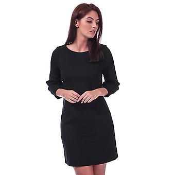 Frauen's Französisch Verbindung Luella Ponte Jersey Tunika Kleid in schwarz