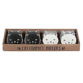 Etwas anderes Cat Kompakt Spiegel (Set mit 12 Stück)
