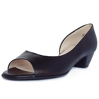 Peter Kaiser Itha Low Heel Open Toe Shoes In Black