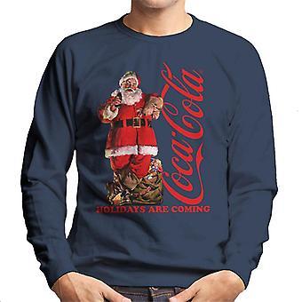Coca Cola Holidays kommer Santa Lean män ' s Sweatshirt