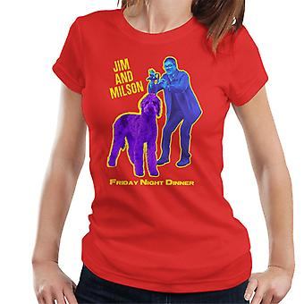 Friday Night Dinner Jim And Wilson Blue And Purple Women's T-Shirt