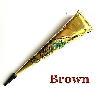 Color Tattoo Inks Waterproof Indian Henna Tattoo Paste Mehndi - Drawing Tatoo Black Body Art Paint Cream Stencil