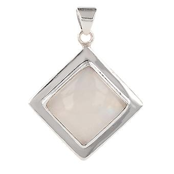 ADEN 925 Sterling Silver MoonSquare Shape Hanger Ketting (id 3937)