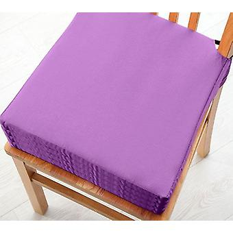 Purple 4pk Seat Pad Cushions with Secure Fastening Dining Kitchen Chairs Soft Cotton Twill