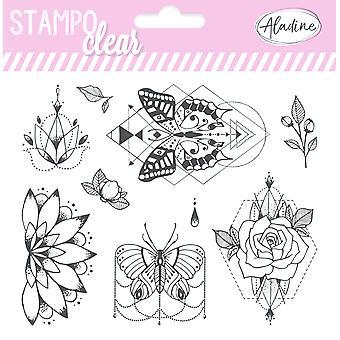 Aladiinin kukat &; Perhoset tyhjentävät postimerkit