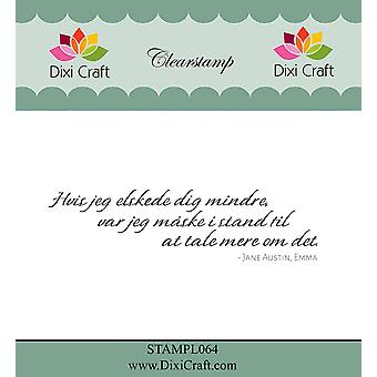 Dixi Craft Danish Text 1 Clear Stamp