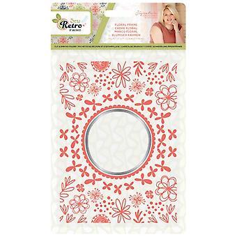 Crafter's Companion Sew Retro Cut & Emboss Folder Floral Frame