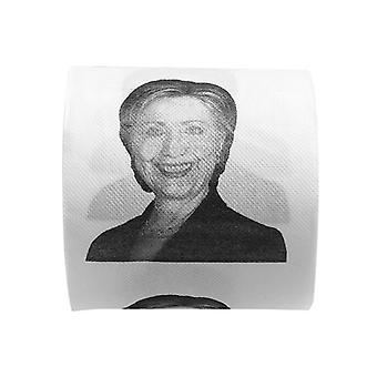 1pc Hillary Clinton Smile Papel Higiênico - Roll Gag Prank Joke Gift Toilet Paper Roll